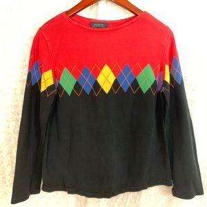 Jones New York Cotton Signature Pullover Sweater